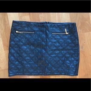 Zara Basic Black Faux Leather Mini Skirt Sz M